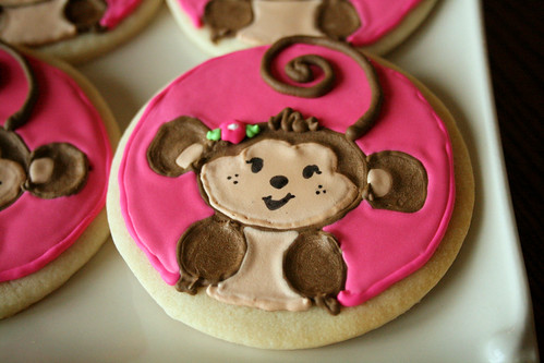 Catherine's monkey cookies.