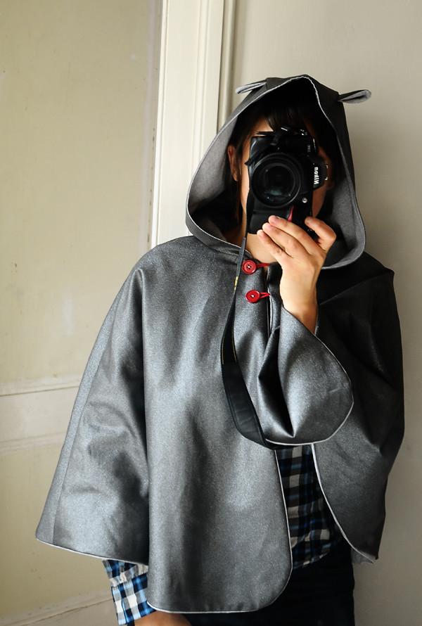 cape femme grise