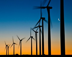 Weatherford, Oklahoma Wind Power (Marvin Bredel) Tags: moon oklahoma windmill silhouette sunrise alternativeenergy marvin windturbine windfarm windpower crescentmoon weatherford marvin908 bredel marvinbredel