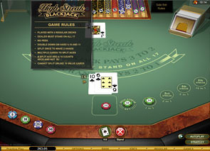 High Streak European Blackjack Gold Rules