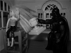 Cindy Remains Unimpressed (AngstionFigures) Tags: darth vader