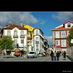 Chaves (CGoulao) Tags: street city houses cidade urban portugal centro center scene rua casas cena chaves vilareal