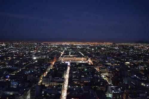 Zocalo de la ciudad de mexico al atardecer