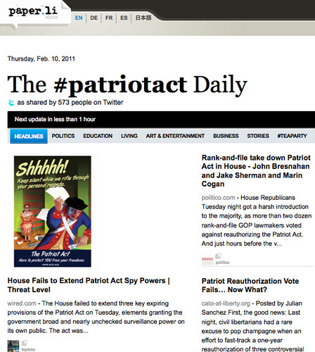 patriotact daily feb 10
