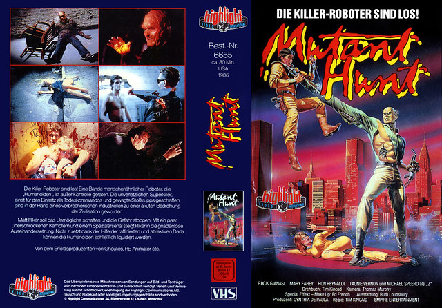 Mutant Hunt (VHS Box Art)
