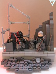 Workers are the foundation of any army (ORRANGE.) Tags: red lego hazel guns orrange helghast killzone stahl brickarms