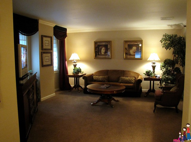 Living area in the Ambassador Suite, Omni Majestic, St. Louis