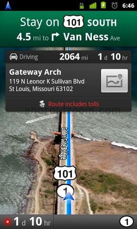 google-maps mobil