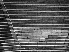 take a seat (paddy_bb) Tags: travel 2017 olympusomd paddybb omde1 italien italy mediterranean campania kampanien volcano vulkan katanien theater ancient pompeji bw schwarzweis old architektur