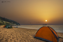 IT'S JULY MORNING! (ИвайлоВеликов) Tags: sea sunset water beach travel sun summer evening sand dawn surf seashore outdoors dusk relaxation tent leisure recreation no person fair weather ngc