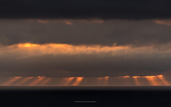 sunrise behind clouds (ciwi.photography) Tags: sunrise clouds water ocean forecasted cloudy bewölked overcasted strahlen shining helgoland morning sonnenaufgang