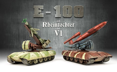 E-100 with Rheintochter & V1 (Andy R Moore) Tags: german ww2 paperpanzer scalemodel modelcollect themodellingnews