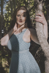 Feeling Blue (Luv Duck - Thanks for 13M Views!) Tags: erin brunette beautifulgirl curvy curves naturalbeauty alaskangirls anchoragegirls modeling girlinthewoods girlintheforest bluedress attractive lovely