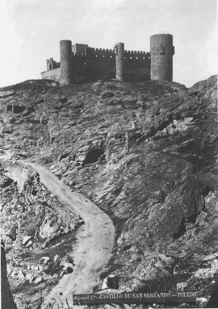 Castillo de San Servando hacia 1880. Fotografía de Casiano Alguacil