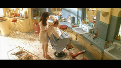 The Hairdresser's Husband (1990) (Awkward Boy Hero) Tags: france hair french dvd screenshot style barber movies 1990 jeanrochefort lemaridelacoiffeuse thehairdressershusband annagaliena iwatchalotofmovies awkwardboyhero
