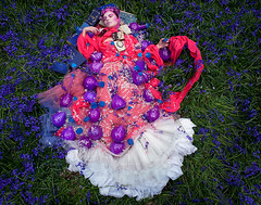 Wonderland : The Suicide of Spring (Kirsty Mitchell) Tags: bluebells fairytale woods dream ania spell fantasy float wonderland storybook enchanted potion flyaway kirstymitchell elbievaneeden gonksbooks 100yearoldbooks amostbeautifulsuicide