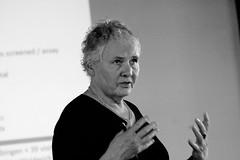 Christiane Nüsslein-Volhard bei ihrem Vortrag in Lindau
