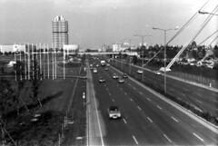 1971 Mnchen Mittelerer Ring Olympiagelnde (Pacific11) Tags: germany munich mnchen bayern deutschland 1971 traffic ring verkehr georgbrauchlering mittlerer