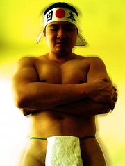 SN202533 (thwl) Tags: sexy pecs muscles japan japanese adult wrestling traditional towel sumo wrestler biceps abs jap headband undergarment fundoshi hachimaki