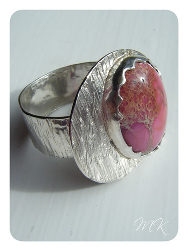 pink sea sediment jasper ring 4