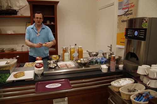 Ibis Hotel's Marc preparing breakfast