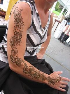 Full henna arm