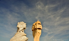 The Guardian (Christophe_A) Tags: barcelona sky cloud spain nikon gaudi christophe polarizer casamilà lapedrera d90 christopheanagnostopoulos χριστοφοροσαναγνωστοπουλοσ χριστόφοροσαναγνωστόπουλοσ