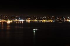 Tagus Boat (Sandro Braz) Tags: portugal rio night river landscape boat nikon barco lisboa lisbon paisagem noite tejo tagus almada cristorei d5000 discoverportugal