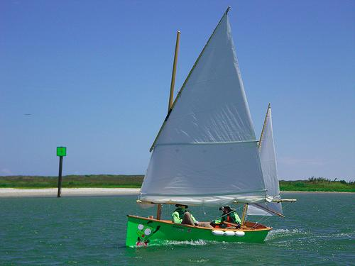 Goat Island skiff in Texas200 raid event.