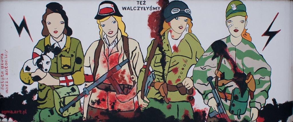 Patriotyczny mural - Morowe Panny