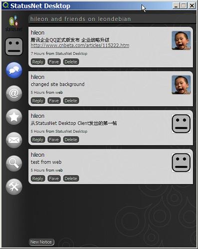 StatusNet Descktop timeline