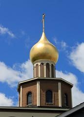 Skyward Cross (Lori Garske) Tags: sky architecture clouds religion goldcross crikit oldrite lorigarske lorilgarske russianorthodoxchurchofthenativity