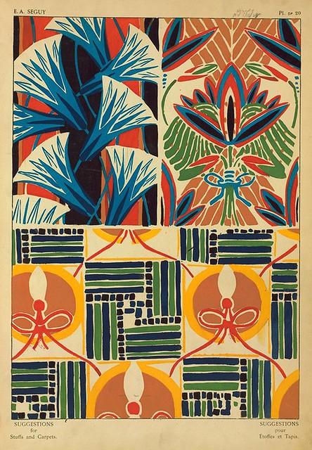 033-Suggestions pour étoffes et tapis 60 motifs en couleur 1927- Eugene Alain Seguy
