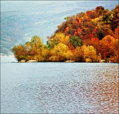 Autumn - snippet (Katarina 2353) Tags: wood blue autumn trees sky mountains film nature clouds forest landscape photography nikon flickr image serbia paisaje paysage priroda danube srbija dunav golubac tjkp pejza katarinastefanovic katarina2353