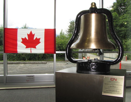 Bell Dedicated at West Coast Railway Heritage Park, Royal Hudson Roars Into CN Roundhouse in Squamish on June 30, 2010