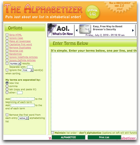 The Alphabetizer