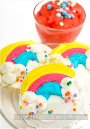 Rainbow Cookies & Mango Gelato