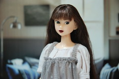 Portrait of Ivie (Girl Least Likely To) Tags: fashion toys dolls ooak vinyl etsy ccs paulina sekiguchi momoko japanesetoys jiajia ivie princesspeach asiandolls closeclippedsheep darkcherry deepplum clearlan