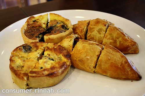 Quiches and cornish pastry @ The Huckleberry Cafe