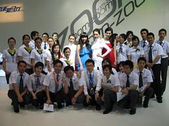 2010 Shenzhen International Auto Show (zikay's photography(no PS)) Tags: model exhibition mazda 车展 集体照 模特 走光 车模 马自达 露底