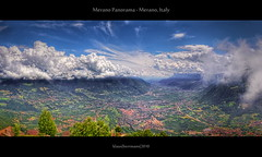 Merano Panorama - Merano, Italy (HDR) (farbspiel) Tags: italien italy panorama mountains clouds photoshop photography cloudy ita stitching photomerge stitched dri hdr highdynamicrange hdri southtyrol merano meran d90 photomatix tonemapped tonemapping lagundo vallay etschtal trentinoaltoadige valledelladige klausherrmann
