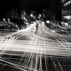 Light tracks (BERT DESIGN) Tags: light art night shanghai traffic voigtlander tracks taiwan taipei gp3 perkeoi