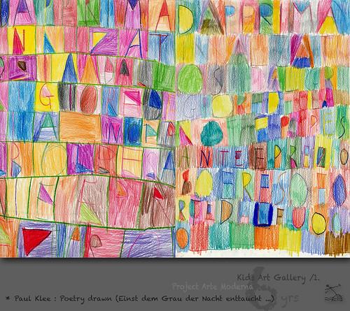 Kidsart 6 Yrs 1 Paul Klee Poetry Drawn Einst Dem Grau
