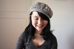 my first pop corn stitch beret
