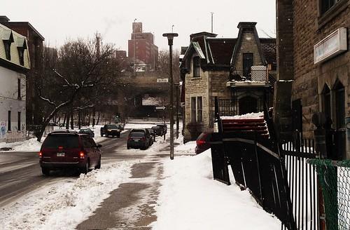 Montréal, 20 fév. 2009. Rue Vinet >Nord, angle rue Coursol. by DubyDub2009