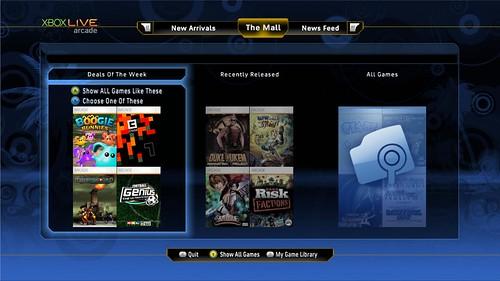El nuevo interfaz de Xbox Live Arcade