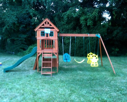 Front View of the Completed Swingset