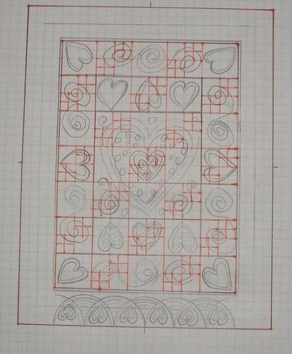 Cariad quilt design 1