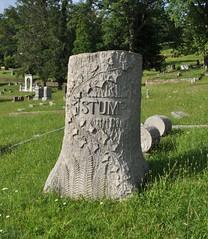 Spring Hill Stump (neshachan) Tags: cemetery graveyard tombstone springhill charleston wv westvirginia stump wva charlestonwv springhillcemetery