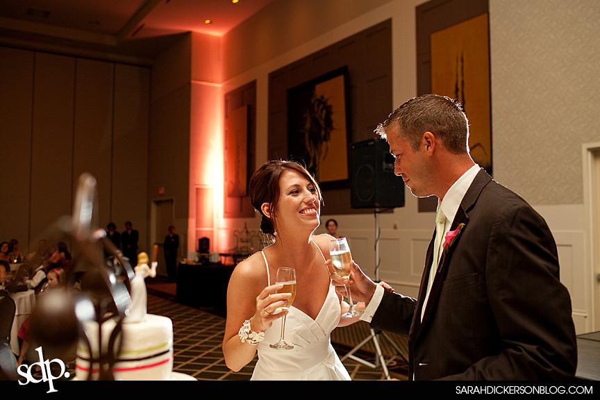 Overland Park Sheraton wedding reception photography